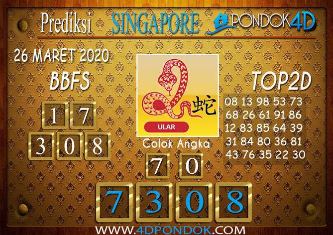 Prediksi Togel SINGAPORE PONDOK4D 26 MARET 2020