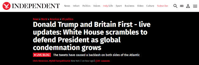 Donald Trump and Britain First: White House scrambles to defend President as global condemnation grows
