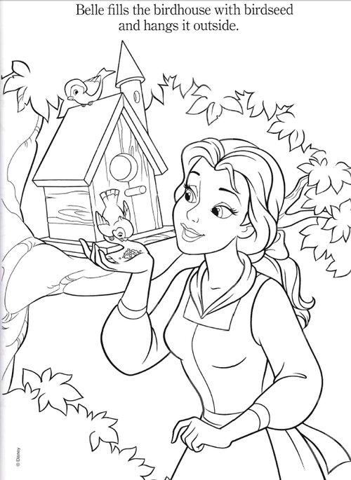 princess belle coloring pages - Princess Belle Coloring Pages