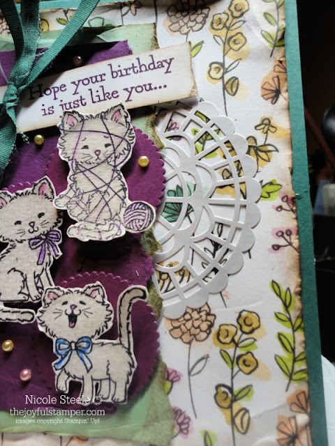 Stampin' Up! Pretty Kitty birthday card for Splitcoaststampers Card Sketch Challenge 788