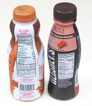 chocolate milk bottles
