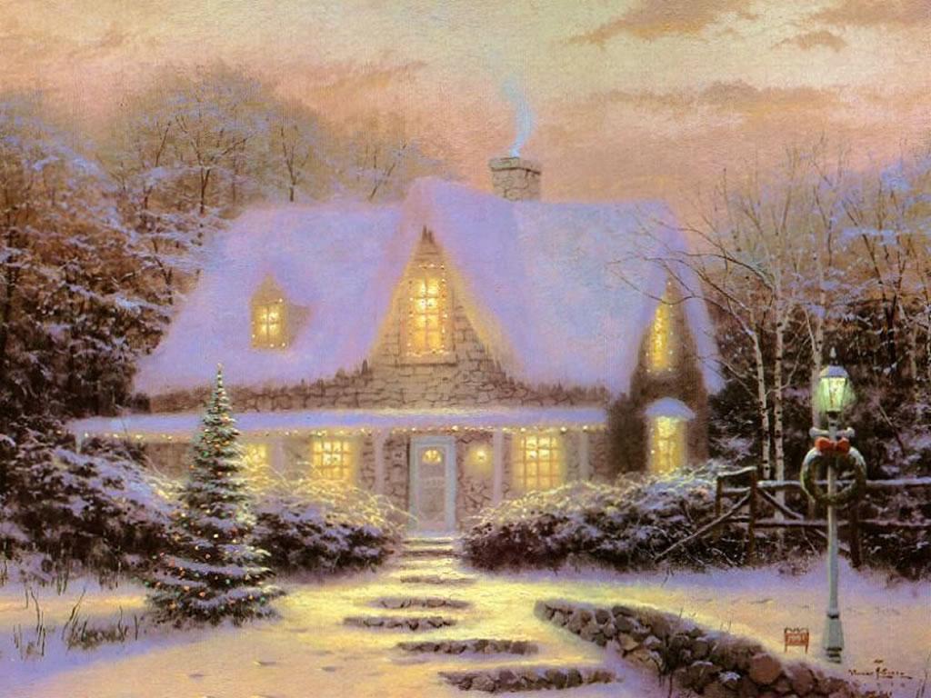 Jami Burch Winter Scene Wallpaper
