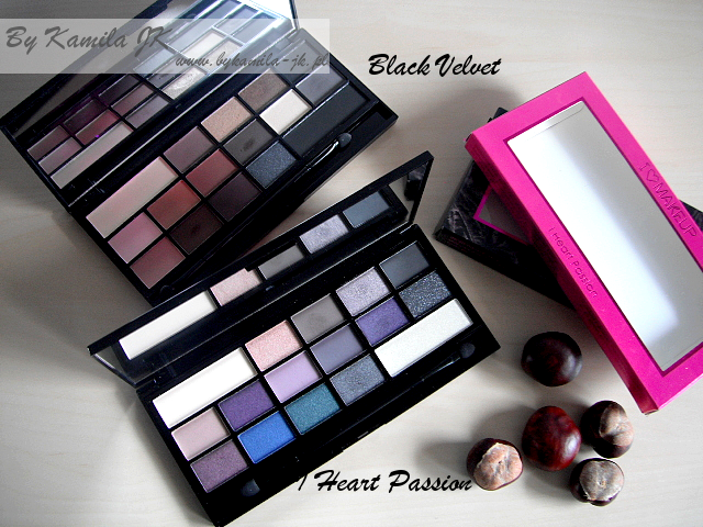 Makeup Revolution paleta cieni Black Velvet I Heart Passion MUR