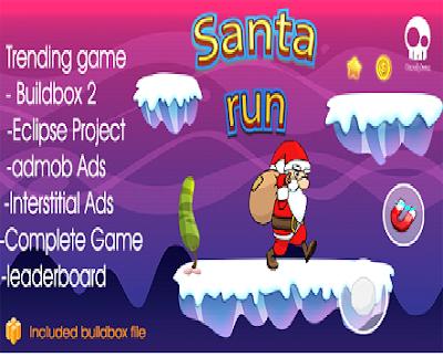 تحميل كود سورس Santa run