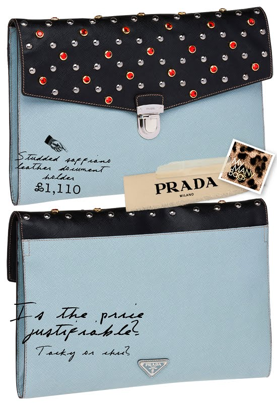 506e497734a917 Below: The tobacco colour is less brash... if I were to get one, I chose  this colour... Prada Studded ...