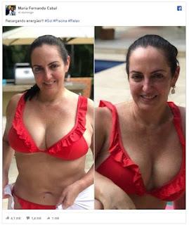 María Fernanda Cabal comparte fotos en bikini y desata polémica