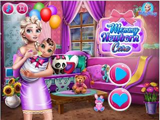 http://www.jogosonlinedemenina.com.br/jogando-frozen-elsa-cuidados-com-o-recem-nascido.html