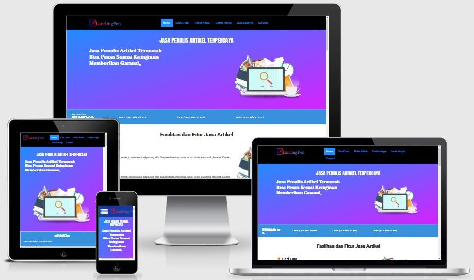 LandingPen Template Responsive Landing Page Blogspot