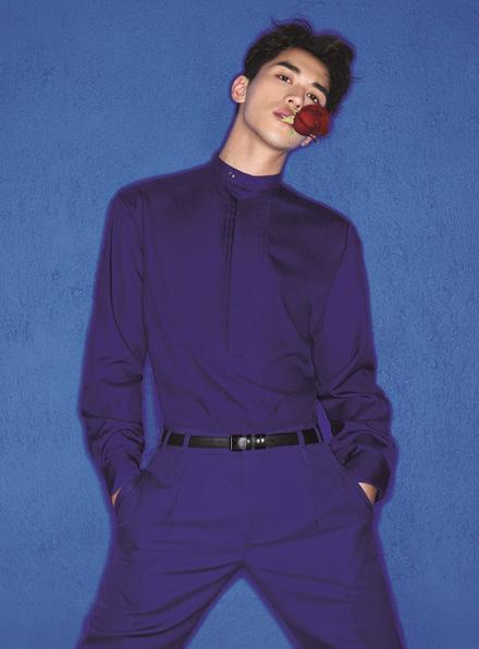 Actor Xu Weizhou poses for fashion magazine