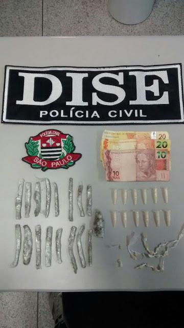 TRAFICANTES DE DROGAS QUE AGIAM NA CIDADE CAJATI FORAM PRESOS EM FLAGRANTE PELA DISE