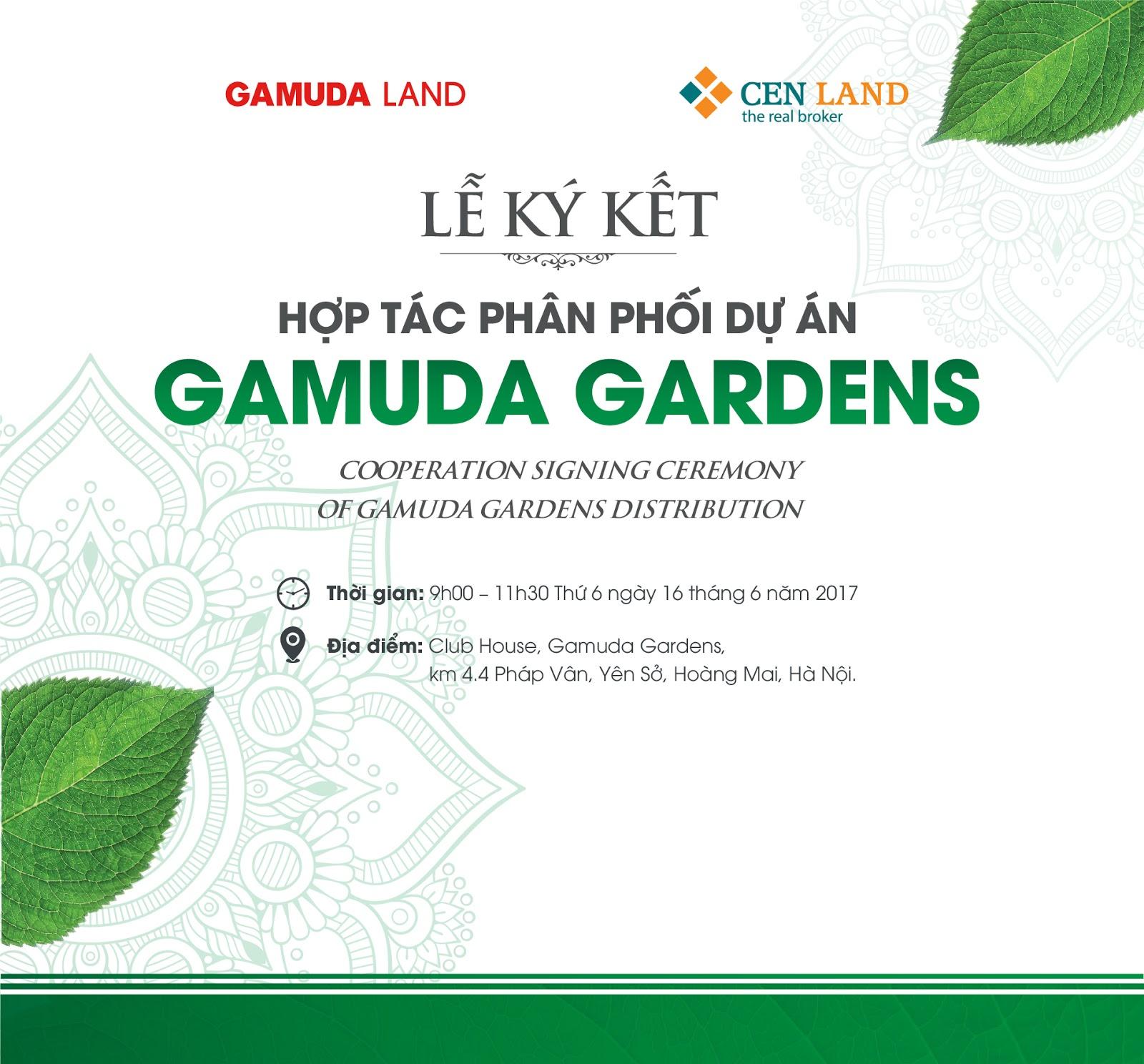 Lễ ký kết hợp tác phân phối dự án Gamuda Gardens