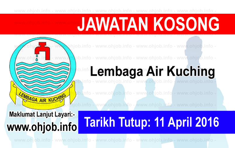 Jawatan Kerja Kosong Lembaga Air Kuching logo www.ohjob.info april 2016