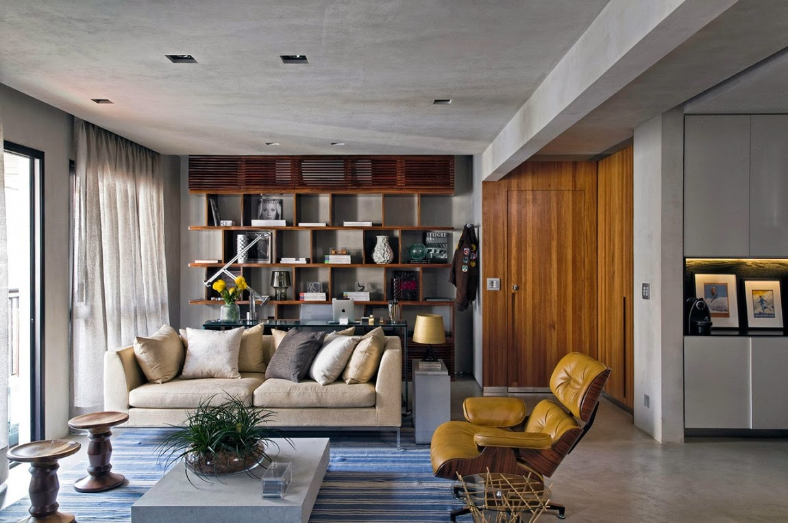 132e95a24572 Um loft em SP com revestimento de concreto e madeira   Casinha colorida