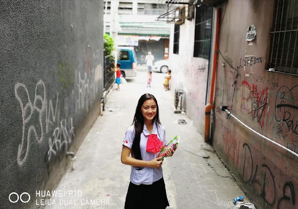 Dara Mae Tuazon - a student from UE taking up Education; Photographed by Veejay Villafranca