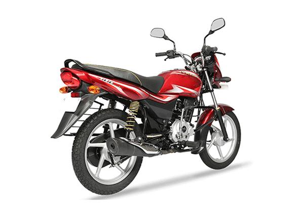 New Bajaj Platina Comfortec Red Pics