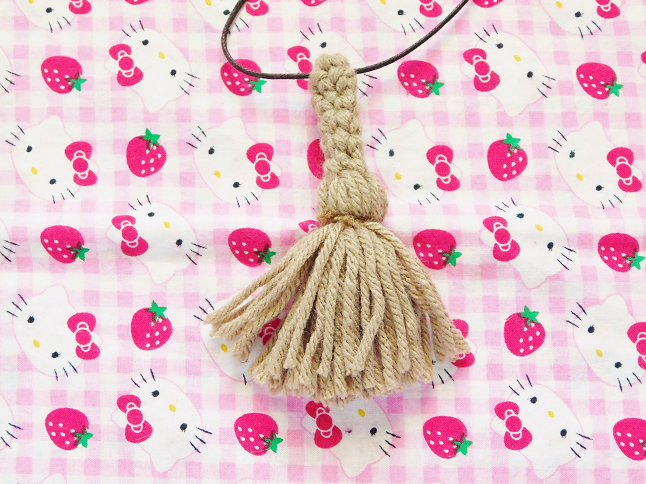Witch Broom Necklace Crochet Pattern