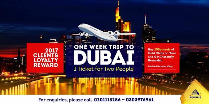 Menzgold Ghana rewarding customers with trips to Dubai