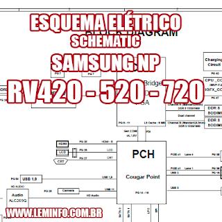 Esquema Elétrico Notebook Laptop Samsung NP RV420 RV520 RV720 Manual de Serviço  Service Manual schematic Diagram Notebook Laptop Samsung NP RV420 RV520 RV720    Esquematico Notebook Laptop Samsung NP RV420 RV520 RV720