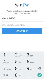 type your phone number and Press Continue