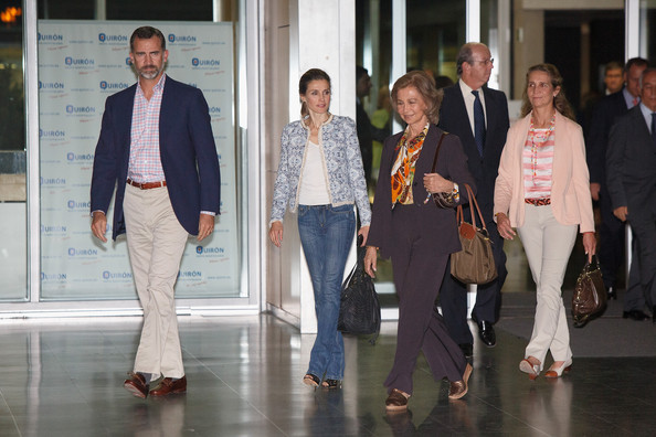 Princess Letizia, Prince Philip, Queen Sofia visited King Juan Carlos at Quiron hospital in Pozuelo de Alarcon