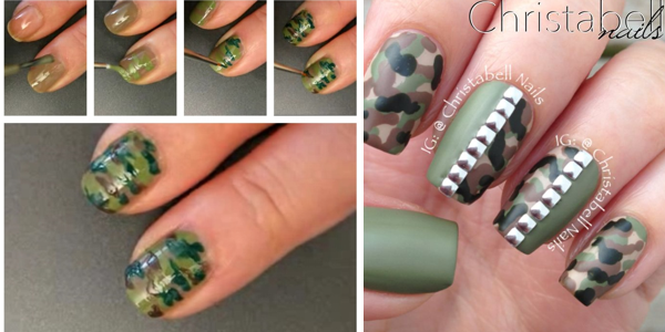 Camouflage nail art tutorials!