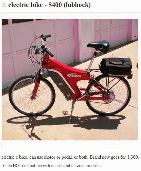 Used Electric Bikes Craigslist : electric, bikes, craigslist, Electric, Craigslist