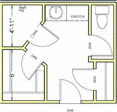 Tips Bathroom Layout With Closet