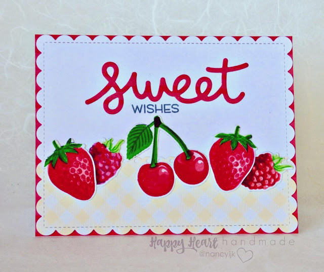 Sunny Studio Stamps: Berry Bliss Customer Card Share by Nancy Krueger