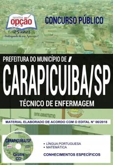 Apostila Prefeitura de Carapicuíba Técnico de Enfermagem 2018