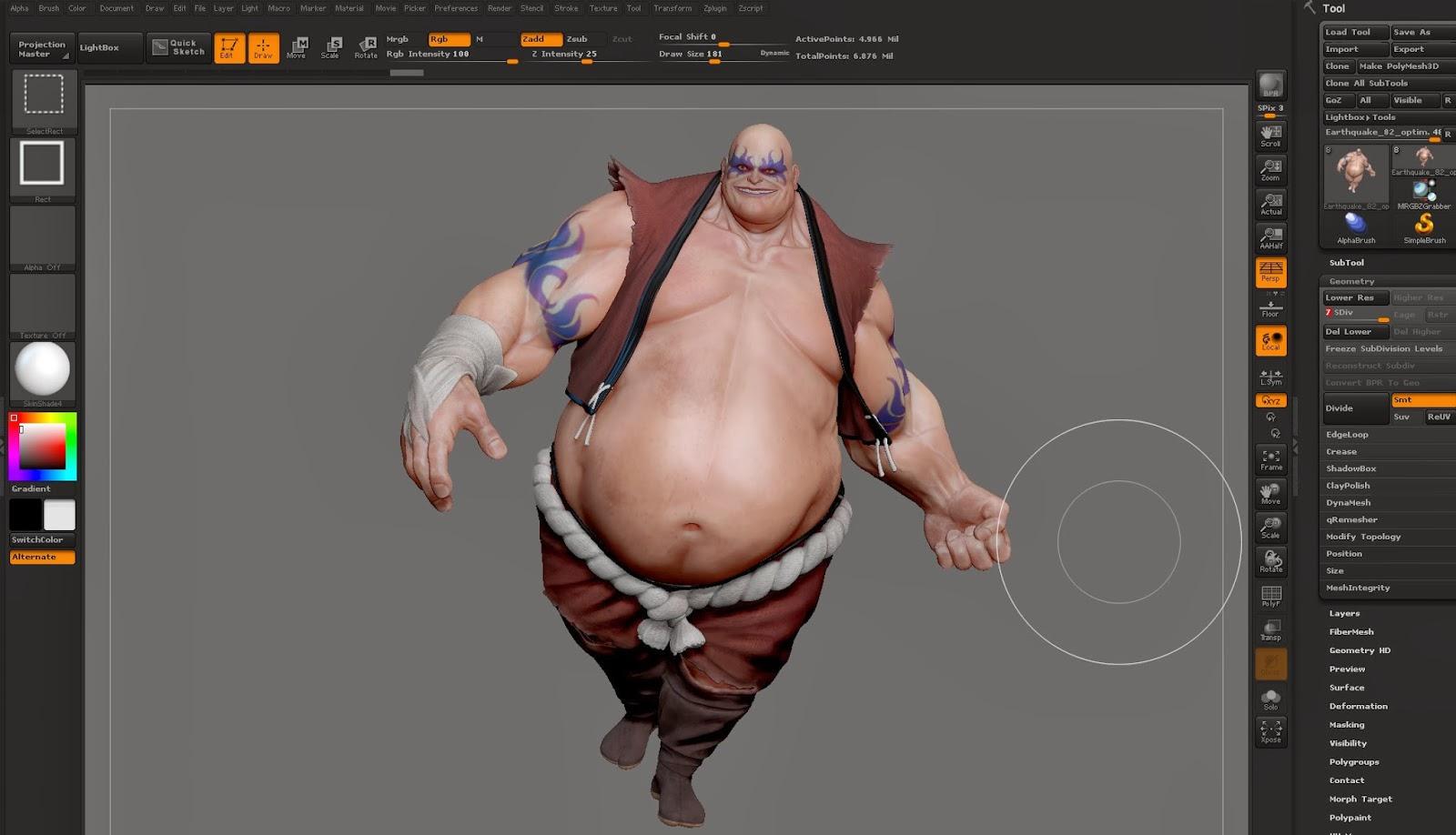 VFX - ZBrush - Techniques and Principles | Simon's DFGA Blog