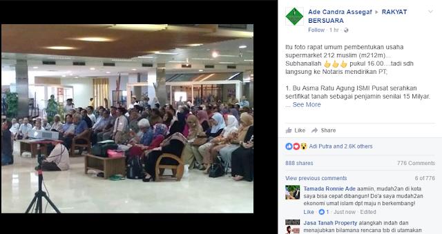 Alhamdulillaah, Rapat umum pembentukan usaha supermarket 212 muslim Dan Inilah Hasilnya