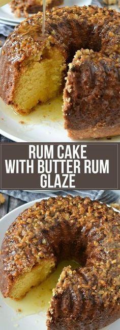 Rum Cake with Butter Rum Glaze Recipe