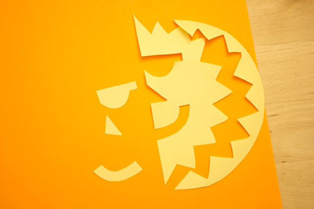 positive and negative space suns and moons- fun kids art project