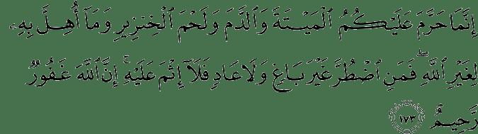 Surat Al-Baqarah Ayat 173