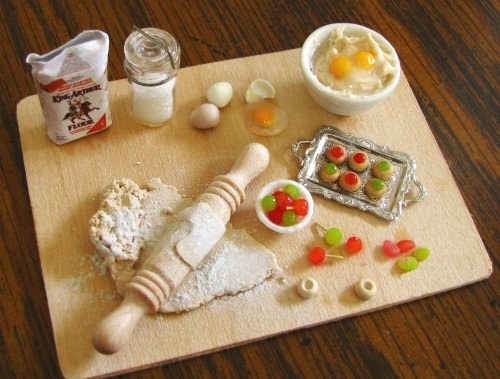 17-Cherry-Thumbprint-Cookies-Small-Miniature-Food-Doll-Houses-Kim-Fairchildart-www-designstack-co