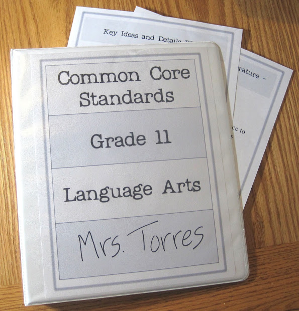 Composition Classroom Common Core Organizing System