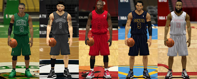 NBA 2K13 Xmas Uniforms Patch Pack