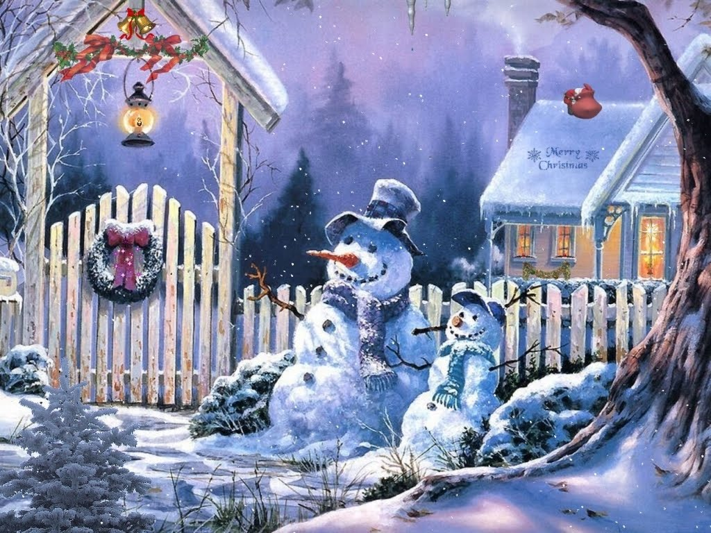 Enjoy The Beauty Of These Cute Christmas Snowman Wallpapers Standing Beautifully To Express Cheer And Joy Of Xmas Holidays For His Lovers