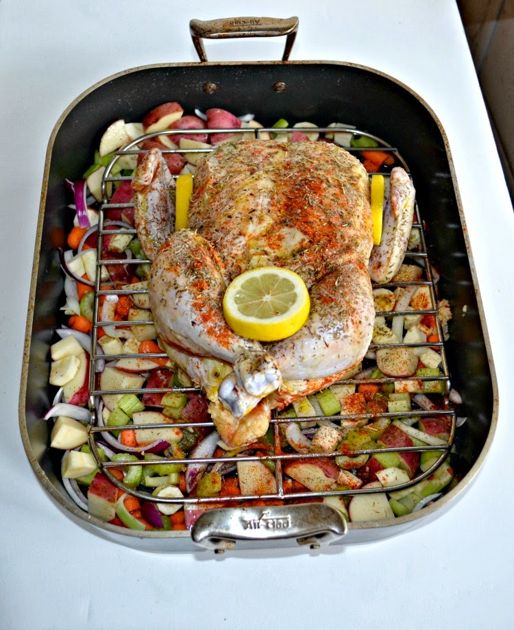 Oven Roasted Chicken With Potatoes And Vegetables