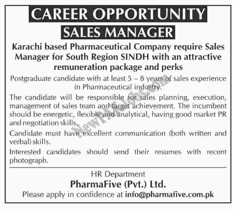Latest Jobs in Pharmafive.com.pk in Sindh