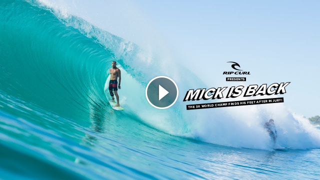 Mick Fanning is Back The 3x World Champ Finds His Feet After Injury