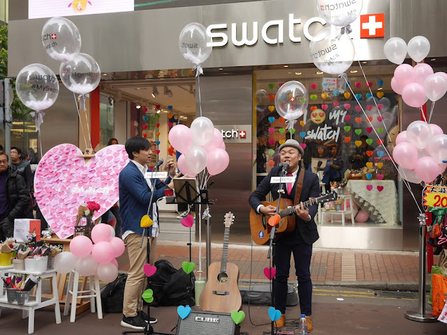 Performance for promotion at Swatch's store in Causeway Bay, Hong Kong