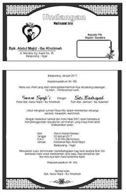 desain undangan walimatul ursy syafi