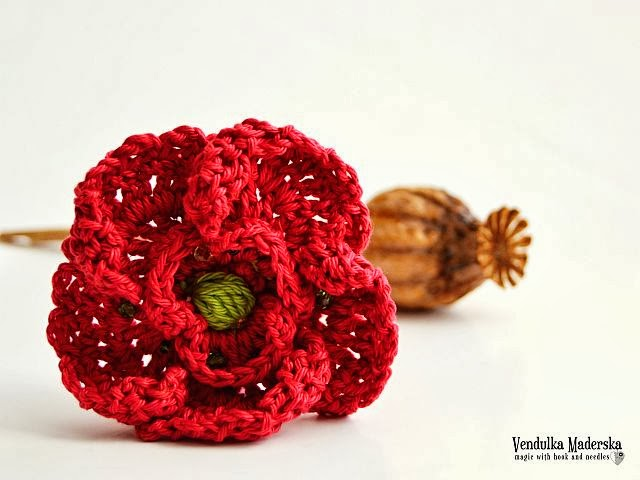 crochet poppy flower