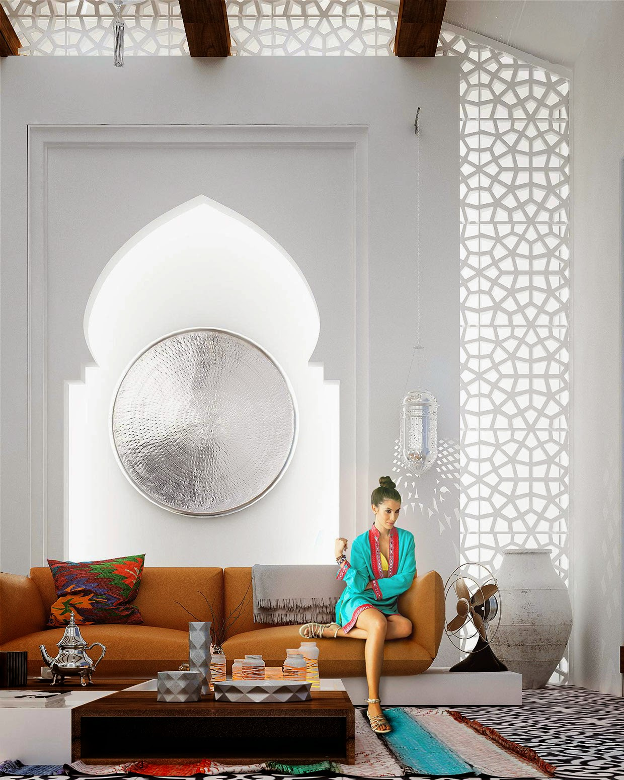 Design moroccan accent for Moroccan living room furniture 02