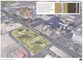 Lass Vegas Mass Shooting map of Music Festival, Mandalay Bay