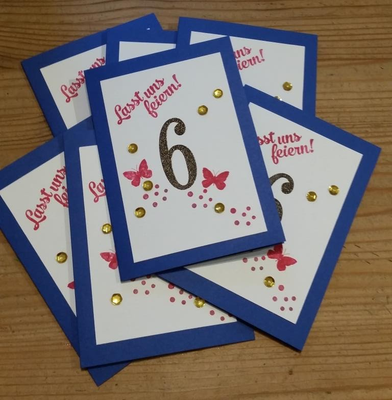 Einladung 6 Geburtstag: Einladungskarten 6 Geburtstag