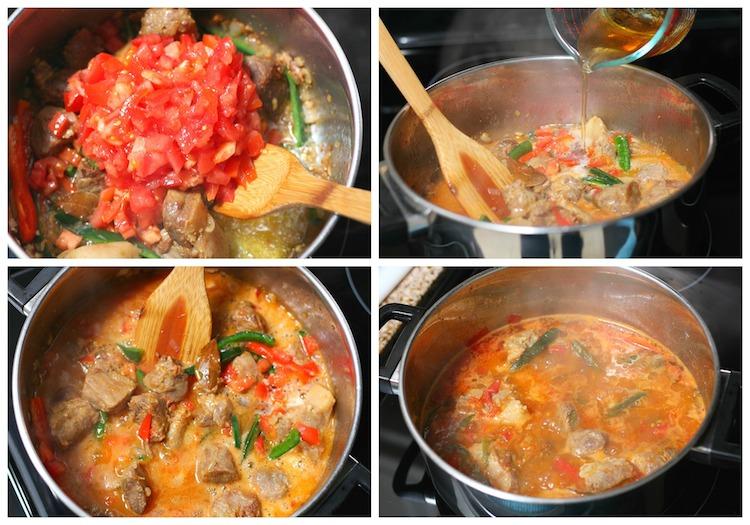 how to cook pork asado with tomato sauce