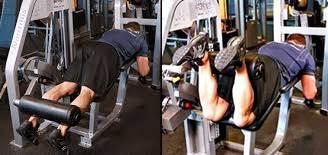 Flexión para ejercitar los músculos posteriores de las piernas