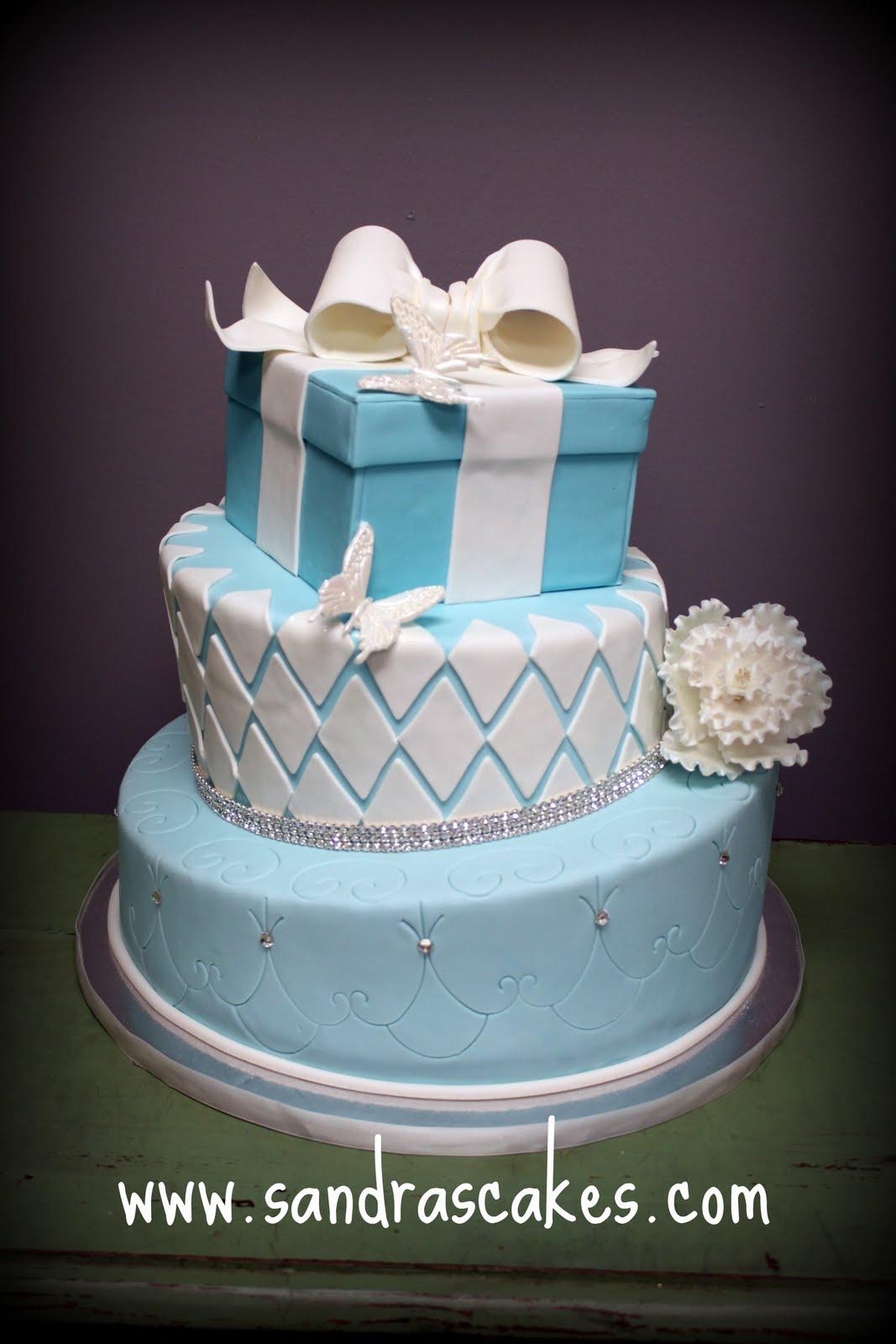 On Birthday Cakes Tiffany Amp Co Inspired Display